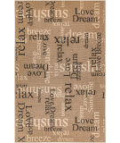 Trans-Ocean Riviera Happy Words 7653/11 Khaki Area Rug