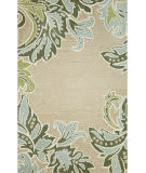 Trans-Ocean Ravella Ornamental Leaf Border 1947/04 Aqua Area Rug