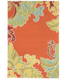 Trans-Ocean Ravella Ornamental Leaf Border 1947/17 Orange Area Rug