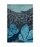 Trans-Ocean Ravella School Of Fish 2283/33 Navy Area Rug