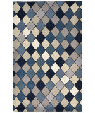 Trans-Ocean Seville Diamond Blue Area Rug