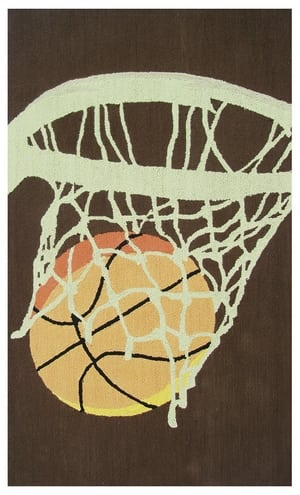The Rug Market America Kids Hoops 11788 Brown/cream/orange Area Rug