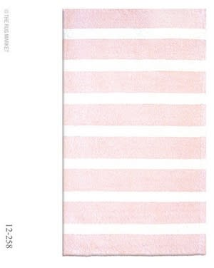 The Rug Market America Kids Cabana Stripe Pink 12258 Pink/white Area Rug