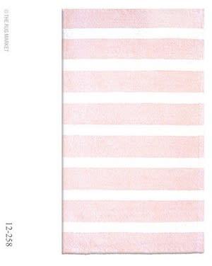 The Rug Market America Kids Cabana Stripe Pink 12258 Pink/white Area Rug