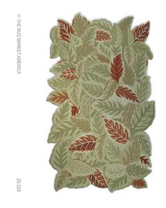 The Rug Market America Resort Garden 25224 Green/rust/ivory Area Rug