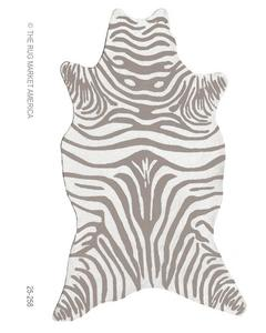 The Rug Market America Resort Zebra Grey Shaped 25258 Grey/white Area Rug