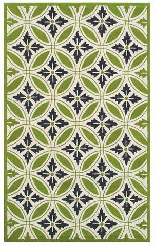 The Rug Market America Resort Florin Green 25299 Green/cream Area Rug