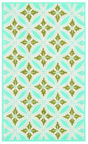 The Rug Market America Resort Florin Blue 25307 Blue/green/cream Area Rug