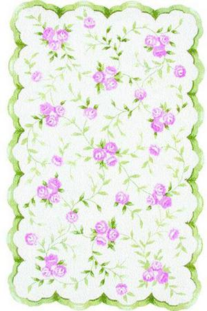 The Rug Market America Kids Sweet Rose 31033 Pink / Green Area Rug