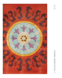 The Rug Market America Camden Suzani 40337 Red/aqua/orange Area Rug