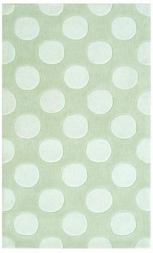 The Rug Market America Kids Polka Mania 74031 White/green Area Rug