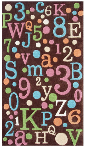 The Rug Market America Kids Back To School 74058 Brown/multi Area Rug