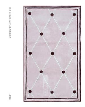 The Rug Market America Kids Tufts Pink 74039 Pink/brown Area Rug