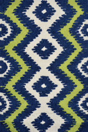 The Rug Market America Pop Accents Ziggy Navy/Green/White Area Rug