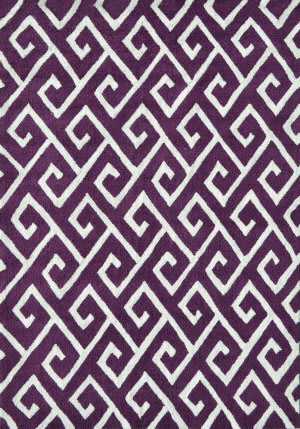 The Rug Market America Pop Accents Greek Aubergine/White Area Rug