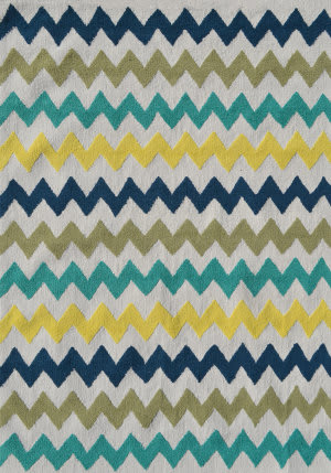 The Rug Market America Pop Accents Chevron Multi Area Rug