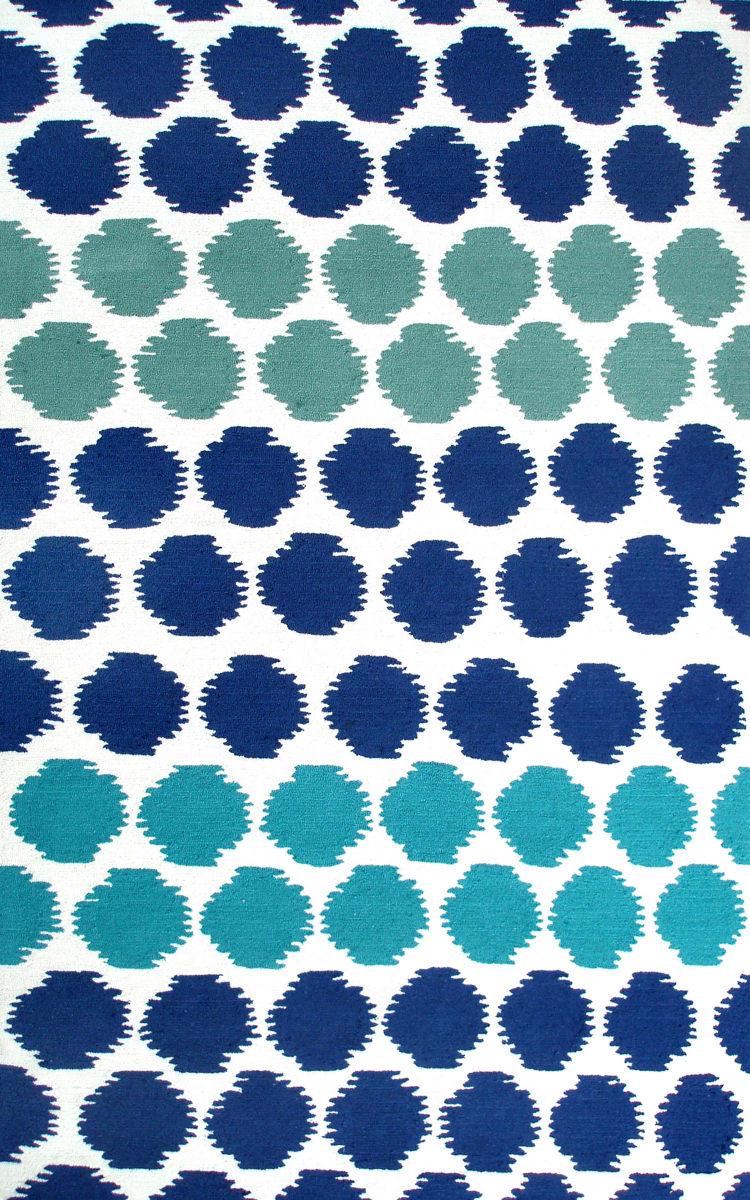The Rug Market America Resort Limbo Blue White Blue Green