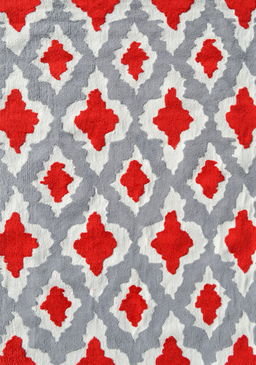 The Rug Market America Pop Accents Ethnic Red Grey White