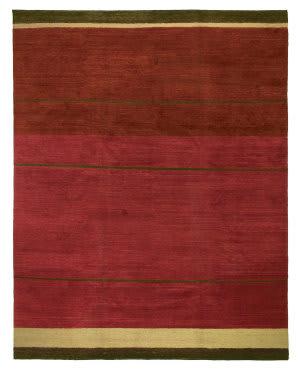 Tufenkian Tibetan Loop Stripe Ruby Area Rug
