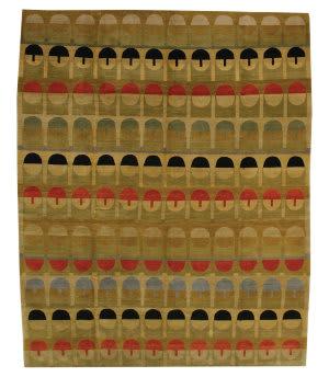 Tufenkian Tibetan Mosaic Gold Area Rug