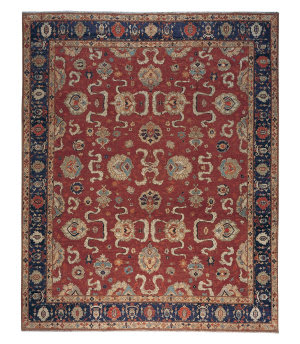 Tufenkian Knotted Cloudband Cranberry Area Rug
