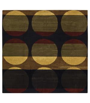 Tufenkian Tibetan Black 9' Square Rug
