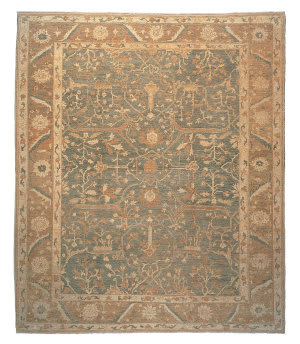 Tufenkian Knotted Jozan Golden Sage Area Rug
