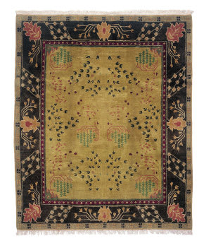 Tufenkian Tibetan Donegal Branches Umber Earth Area Rug
