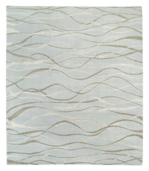 Tufenkian Tibetan Ripple Ocean Spray Area Rug