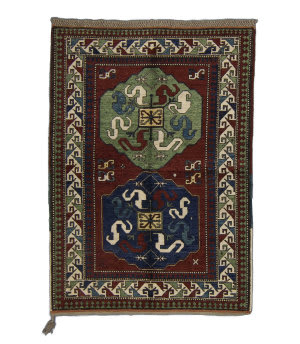Tufenkian Knotted Red 5' x 7' Rug
