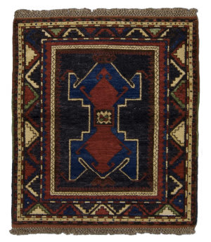 Tufenkian Knotted Crab Kazakh Blue/Red Area Rug
