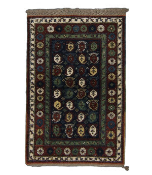 Tufenkian Knotted Seychour Boteh Navy Area Rug