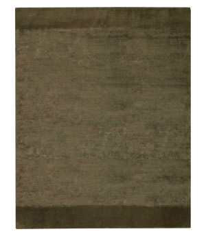 Tufenkian Tibetan Border Stripe Walnut Area Rug