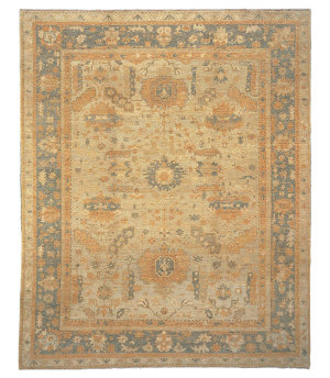 Tufenkian Knotted Gohar Camel Sheared Area Rug