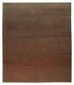 Tufenkian Tibetan Flip Side Charcoal Rust Area Rug