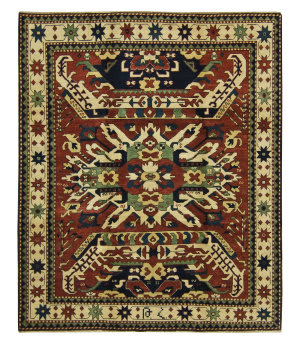 Tufenkian Knotted Chelaberd Ruby Area Rug