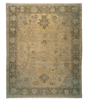 Tufenkian Knotted Herat Pale Mocha Sheared Area Rug