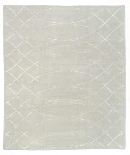Tufenkian Shakti Arching Lattice Ice Area Rug
