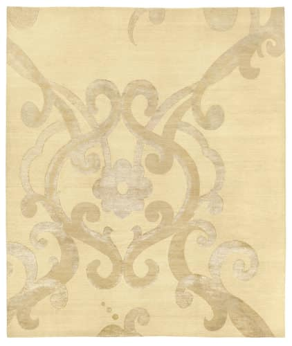 Tufenkian Shakti Assumed Arabesque Parchment Area Rug