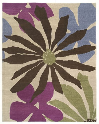 Tufenkian Lama Daisy Mae Grape Crush Area Rug