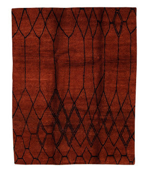 Tufenkian Tibetan Diamond Red Area Rug