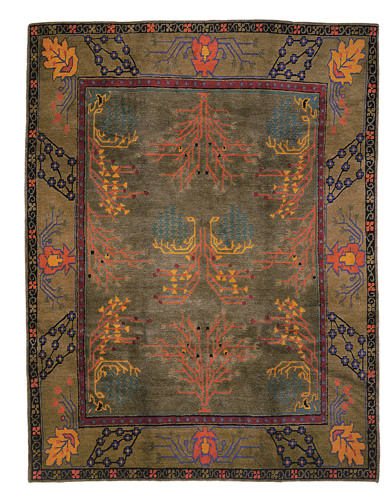Tufenkian Setana Donegal Branches Heather Grey Area Rug