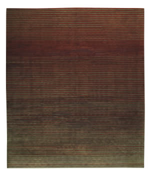 Tufenkian Shakti Flip Side Charcoal Rust Area Rug