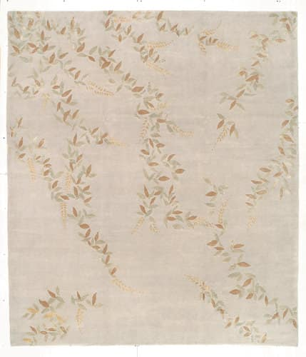 Tufenkian Shakti Floral Cascade Golden Pearl Area Rug