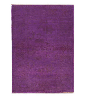 Tufenkian Knotted Gharni Purple Overdyed Sheared Area Rug