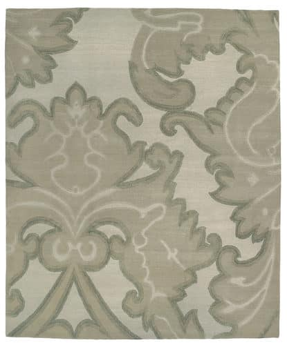 Tufenkian Shakti Implied Damask Cool Mist Area Rug