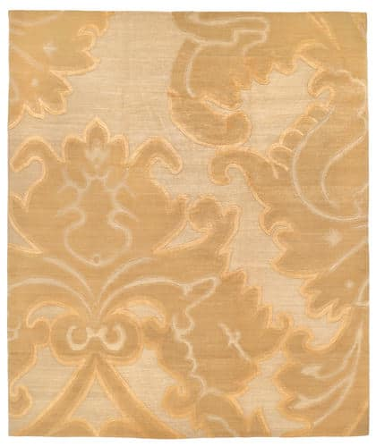Tufenkian Shakti Implied Damask Golden Apricot Area Rug