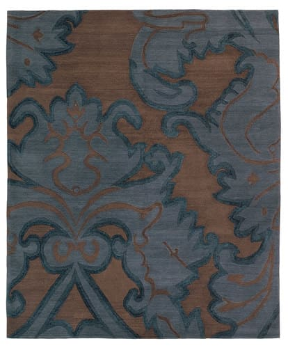 Tufenkian Shakti Implied Damask Midnight Area Rug