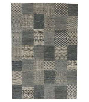 Tufenkian Knotted Beige Blue 6' x 9' Rug