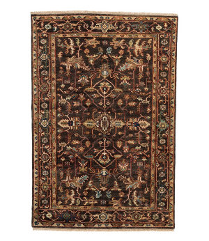 Tufenkian Knotted Charcoal 4' x 6' Rug